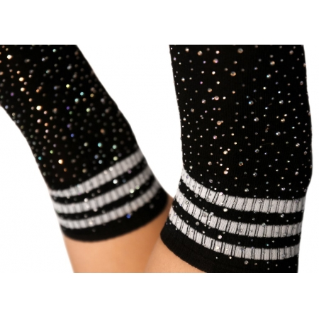 Cleo The Hurricane Rhinestone Socks – Black