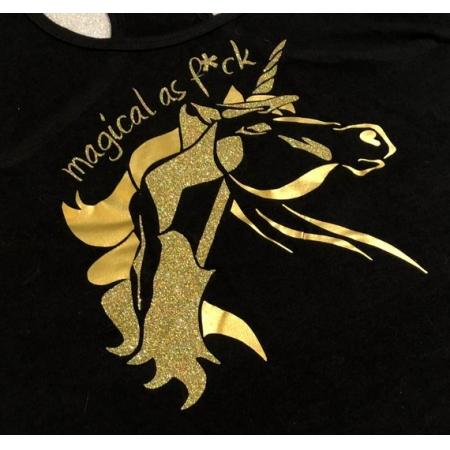 Booty Candy 'Gold Hidden Pole Dancer Unicorn Tank'