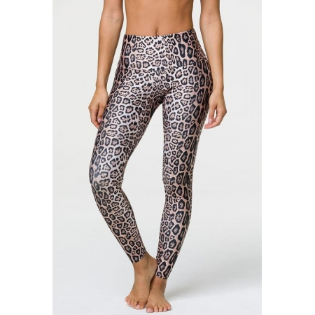 Onzie High Rise Leggings-Leopard