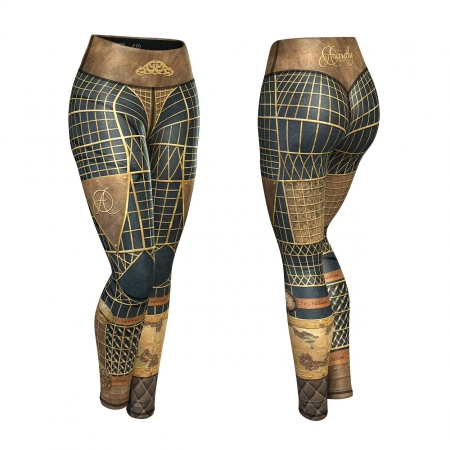 Anarchy Apparel Compression Victorian Deuce Leggings