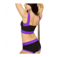 Pole Candy Maria Top - Black / Violet