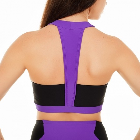 Pole Candy Dita Top - Violet / Black