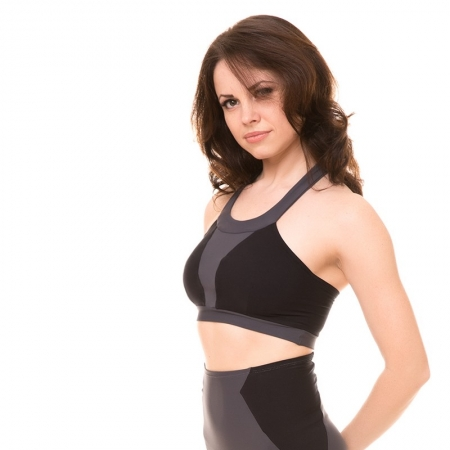 Pole Candy Dita Top - Grey / Black