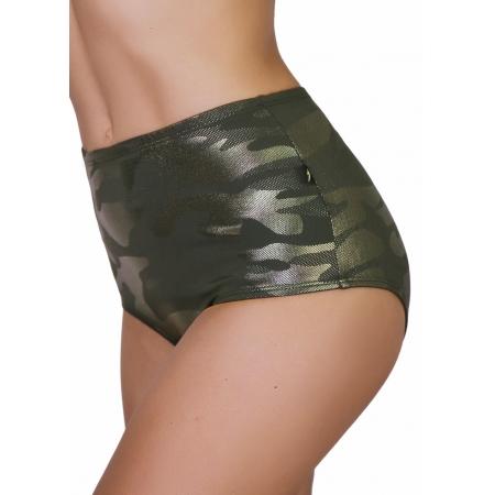 Cleo The Hurricane G.I JADE Glamourflage High Waist Hot Pants