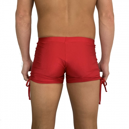 Juicee Peach Mens Red Tie Side Shorts