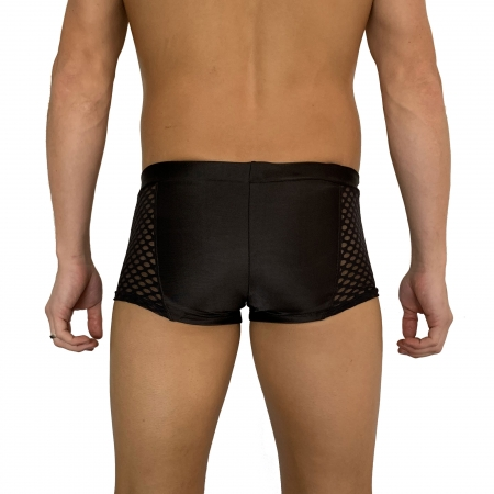 Juicee Peach Mens Power Mesh Pole Shorts