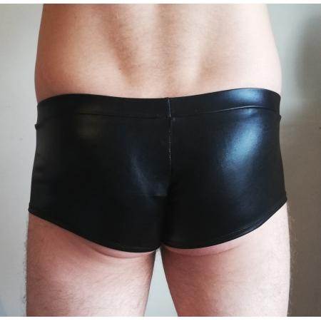 Juicee peach Mens Wet Look Pole Shorts