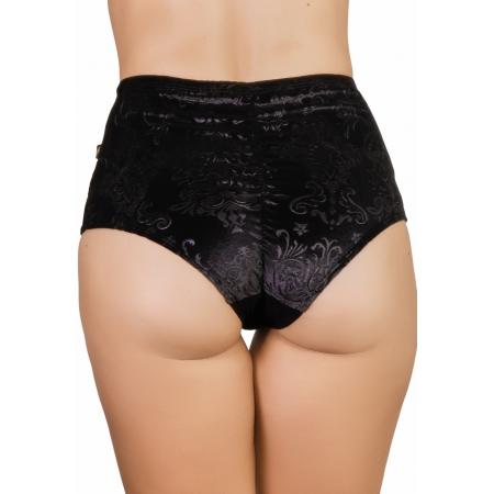 Cleo The Hurricane Bish Royale Velvet High Waist Pants - Boudoir Noir