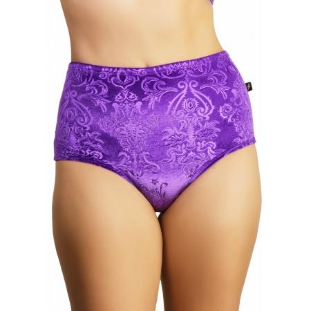 Cleo The Hurricane Bish Royale Velvet High Waist Pants - Purple Reign