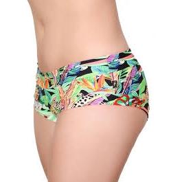Cleo The Hurricane Power Print Hot Pants- Jumping Jaguar