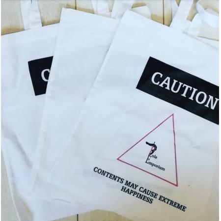 Pole Emporium Tote Bag - Caution Contents
