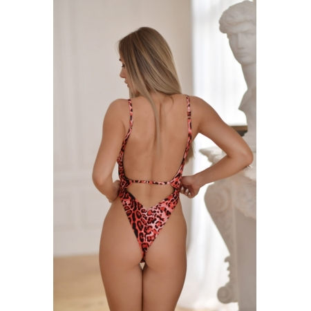Bodysuit Haos-red leopard