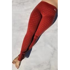 Creatures Of XIX Gecko Grip Leggings: Red Rust