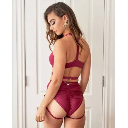 Lunalae Blaire Bottoms Recycled Burgundy