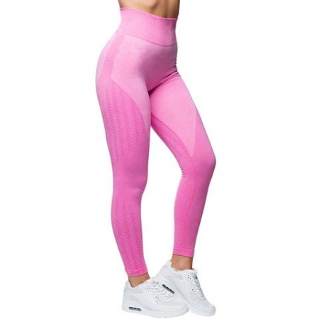 Anarchy Apparel Wabisabi Seamless Leggings - Electric Pink