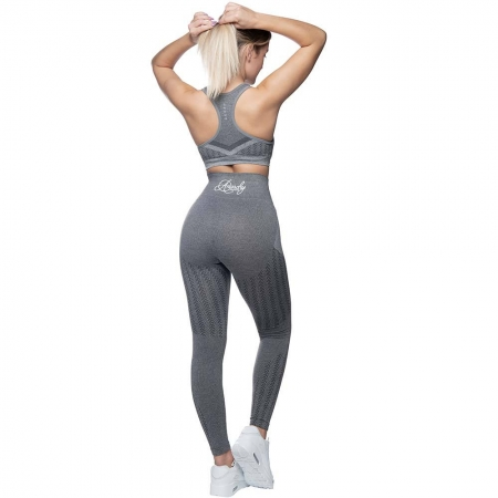 Anarchy Apparel Wabisabi Seamless Leggings - Taupe Grey