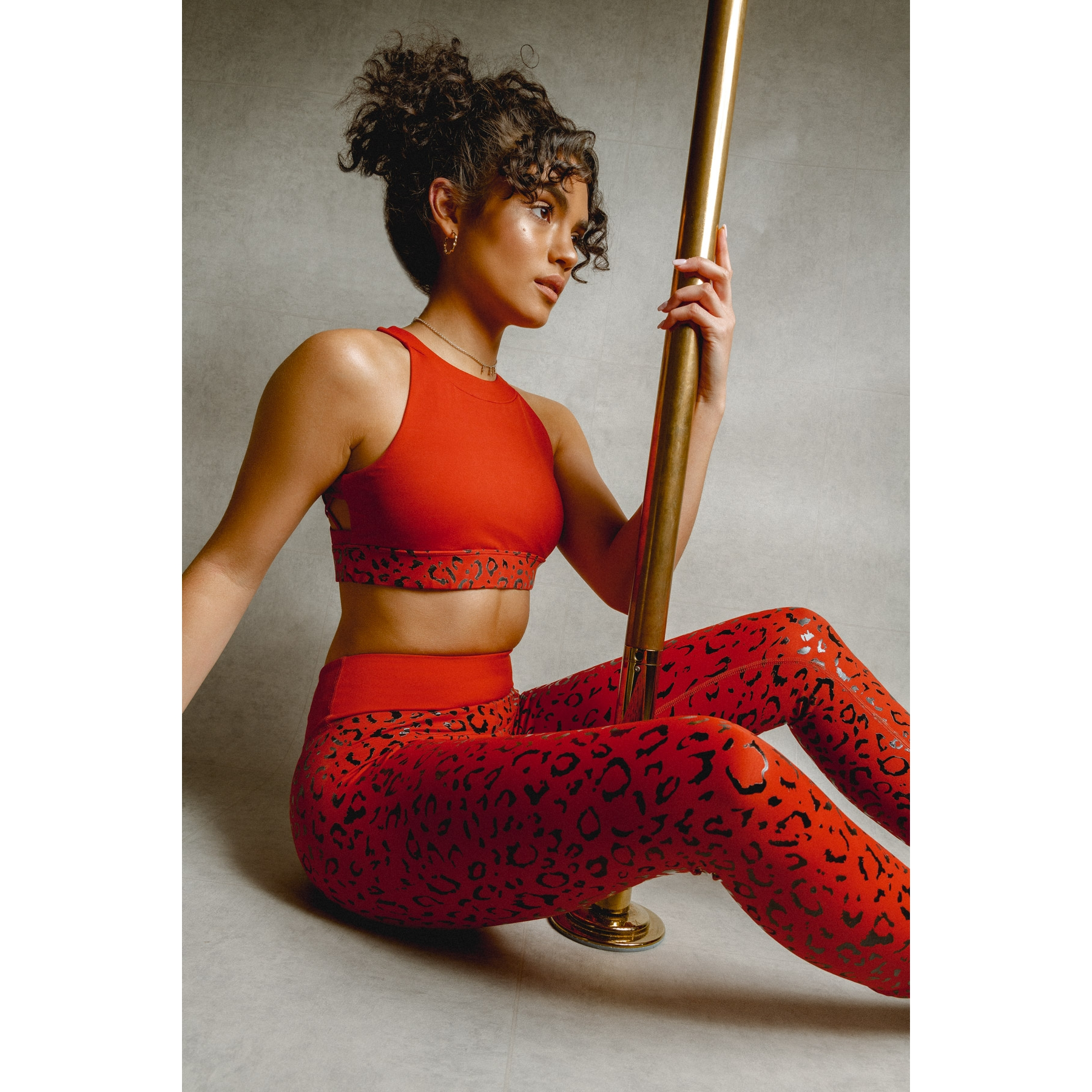 Creatures Of XIX Gecko Grip Leggings - Red Leopard