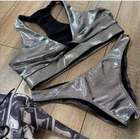 Cleo The Hurricane Chrome Twist Sports Bra