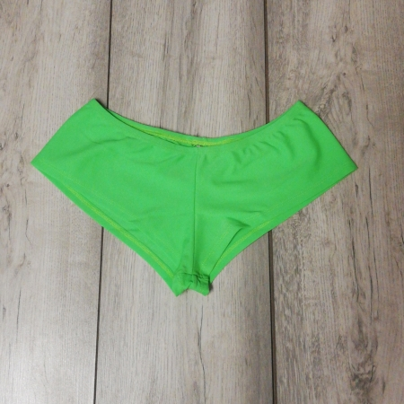 Juice Peach Plain Hotpants - Fluro Green