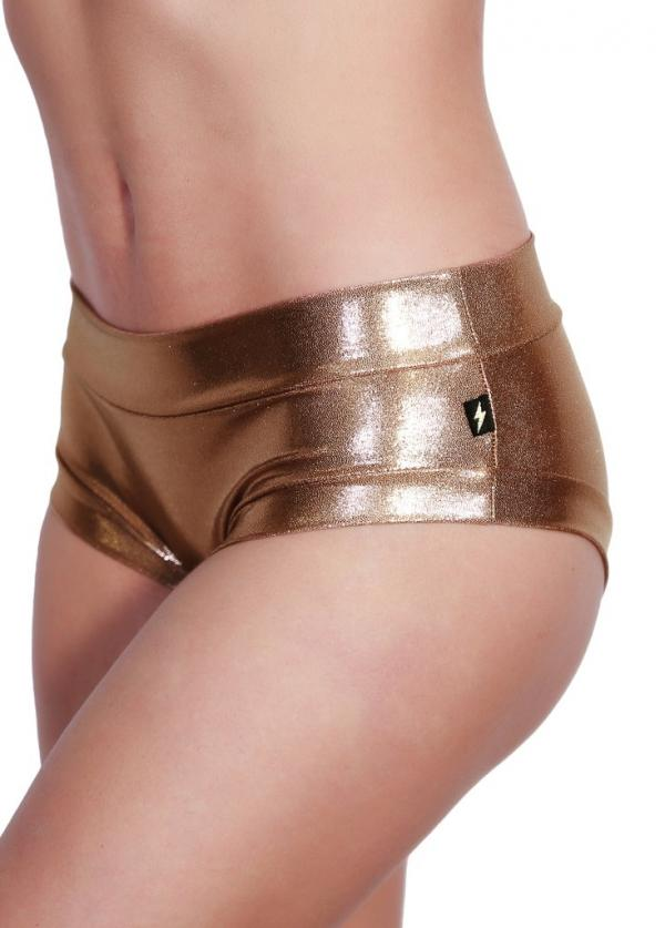 Cleo The Hurricane Rose Gold Hot Pants
