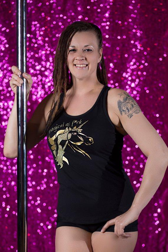 Booty Candy 'Gold Hidden Pole Dancer Unicorn Tank'