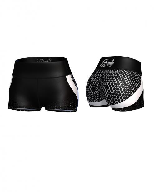 Anarchy Apparel Stallone Hot Pants (Hexagon)