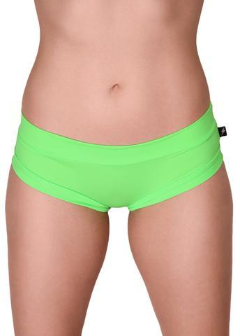 Cleo The Hurricane Essential Hot Pants-Lime Slime
