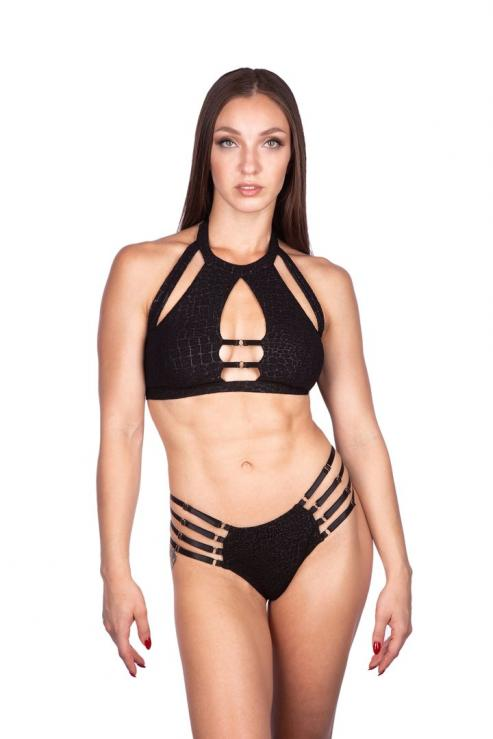 Naughty Thoughts Viper Top - BLACK