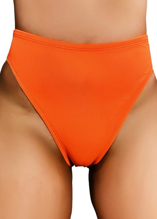 Cleo The Hurricane Essential High Rider Hot Pants - Toxic Orange