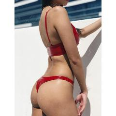 Naughty Thoughts Sinner Vinyl Thong - RED