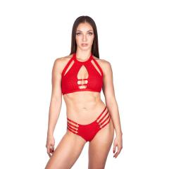 Naughty Thoughts Viper Strappy Bottom - RED