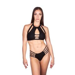 Naughty Thoughts Viper Strappy Bottom - BLACK